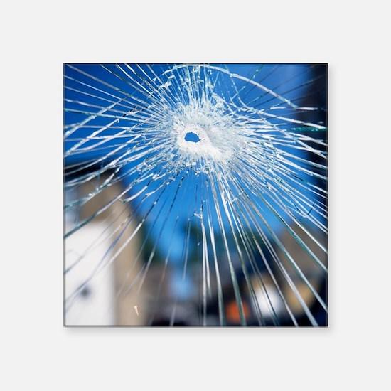 Broken glass - Square Sticker 3