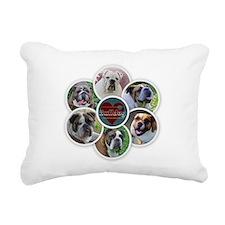 English Bulldog collage Rectangular Canvas Pillow