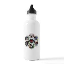 English Bulldog collage Water Bottle