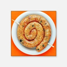 Coiled sausage - Square Sticker 3