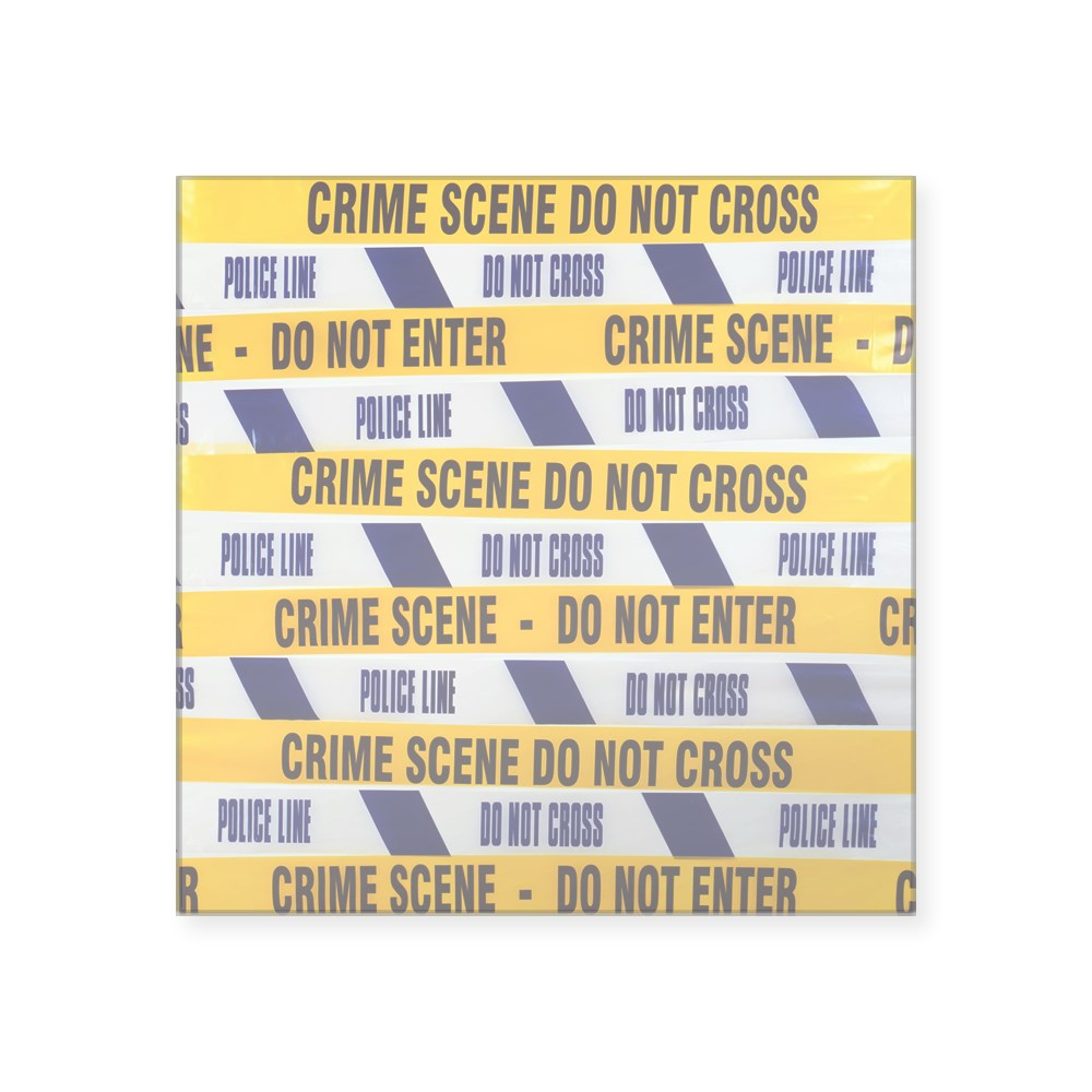 CafePress Crime Scene Tape Square Sticker 3 Square Sticker 782593472