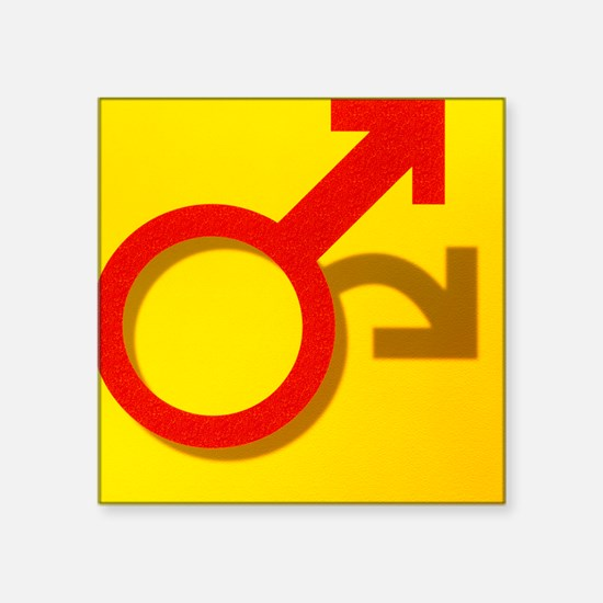 Abstract art with male symbol depicting impotence