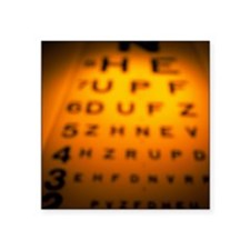 Blurred view of a Snellen eye test chart - Square