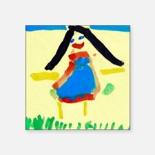 Child's painting - Square Sticker 3