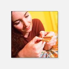 Contraceptive pills - Square Sticker 3