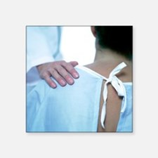 Doctor comforting a patient - Square Sticker 3