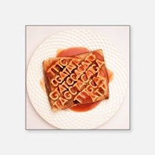 GM food, conceptual image - Square Sticker 3