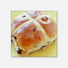 Hot cross bun - Square Sticker 3