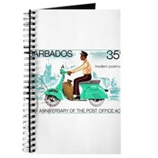 Vintage 1976 Barbados Postman Postage Stamp Journa