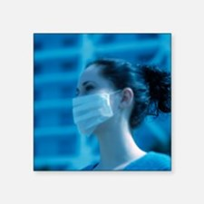 SARS protection face mask - Square Sticker 3