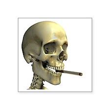 Smoking skeleton - Square Sticker 3