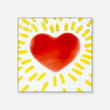 Healthy heart - Square Sticker 3