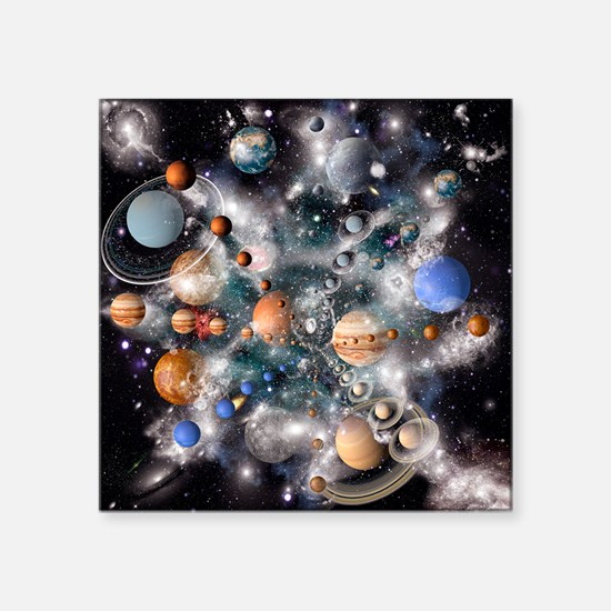 Solar system planets - Square Sticker 3