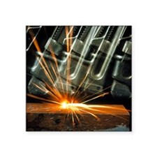 Sparks from a thermite reaction - Square Sticker 3