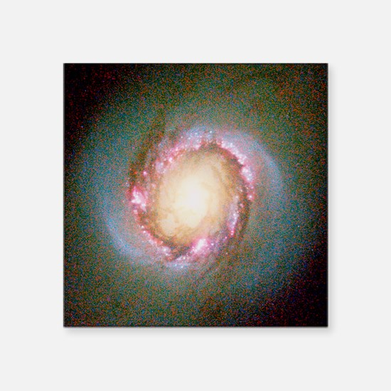 Star birth in galaxy NGC 4314 - Square Sticker 3