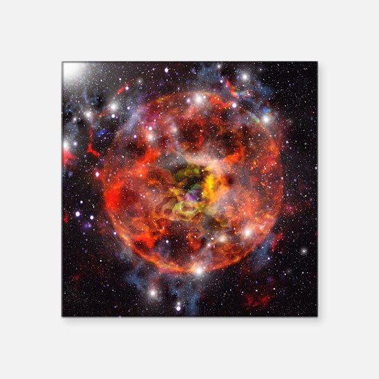 Star formation, computer artwork - Square Sticker
