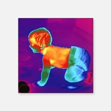 Thermogram of a baby - Square Sticker 3