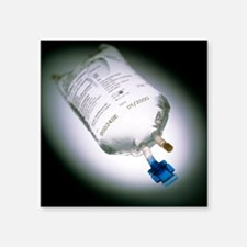 View of an intravenous drip bag - Square Sticker 3