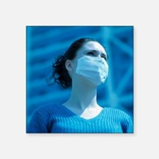 Virus protection face mask - Square Sticker 3