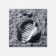 Apollo bootprint on the Moon - Square Sticker 3