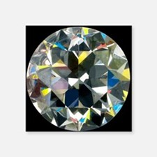 Cut and polished diamond - Square Sticker 3