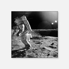 Apollo 12 astronaut on the Moon - Square Sticker 3