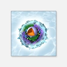 Animal cell structure, artwork - Square Sticker 3