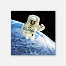 Composite image of a spacewalk over Earth - Square