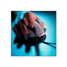 Computer mouse - Square Sticker 3