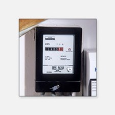Electricity meter - Square Sticker 3