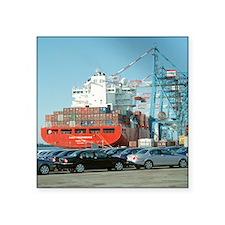 Container ship - Square Sticker 3