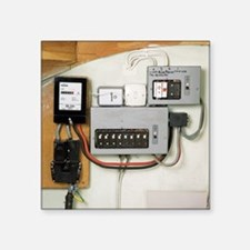 Electricity meter and fuse boxes - Square Sticker
