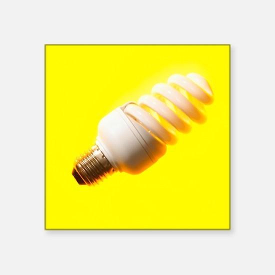 Energy-saving light bulb - Square Sticker 3