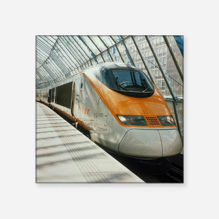 Eurostar Channel Tunnel train - Square Sticker 3