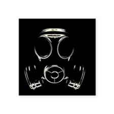 Gas mask - Square Sticker 3