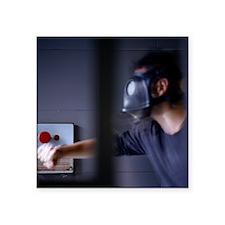 Gas mask emergency - Square Sticker 3
