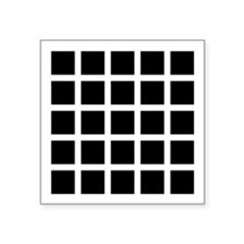 Hermann grid - Square Sticker 3