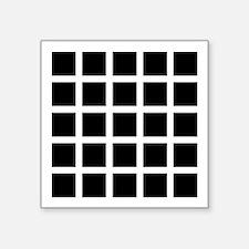 Hermann grid - Square Sticker 3