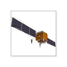 GPS satellite, artwork - Square Sticker 3