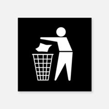 No litter sign - Square Sticker 3