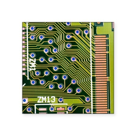 Macrophotograph of printed circuit board - Square