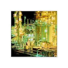 Oil refinery at night - Square Sticker 3