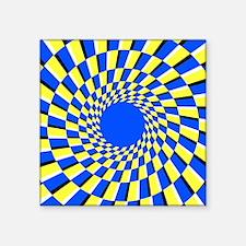 Peripheral drift illusion - Square Sticker 3