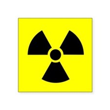 Radiation warning sign - Square Sticker 3