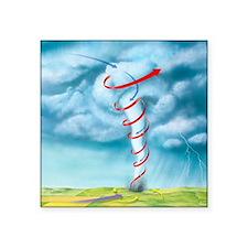 Tornado dynamics, artwork - Square Sticker 3