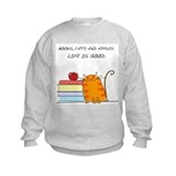 Cats and books Crew Neck