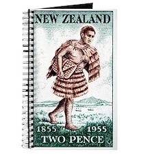 Vintage 1955 New Zealand Maori Mailman Stamp Journ