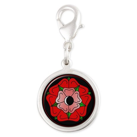 Rose of Love Silver Round Charm