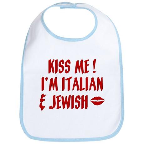 Kiss Me: Jewish & Italian Bib