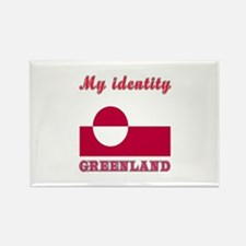 My Identity Greenland Rectangle Magnet